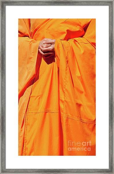 Buddhist Monk 02 Framed Print