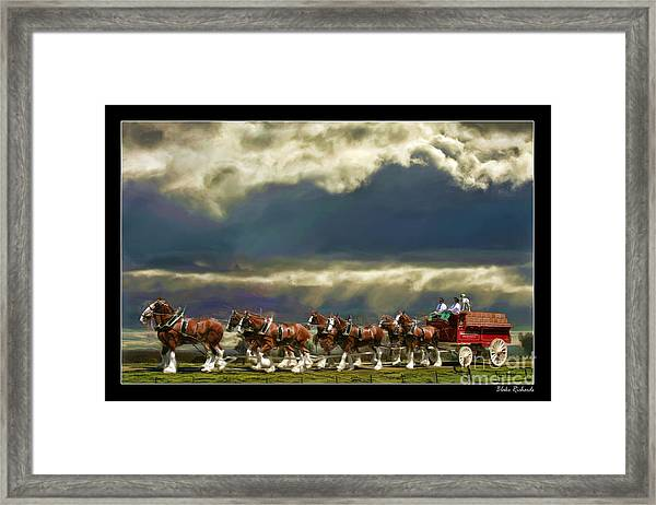 Budweiser Clydesdales Paint 1 Framed Print