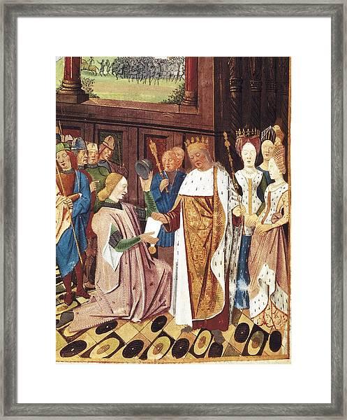 Bueil, John V Of 1406-1477. Charles Framed Print by Everett