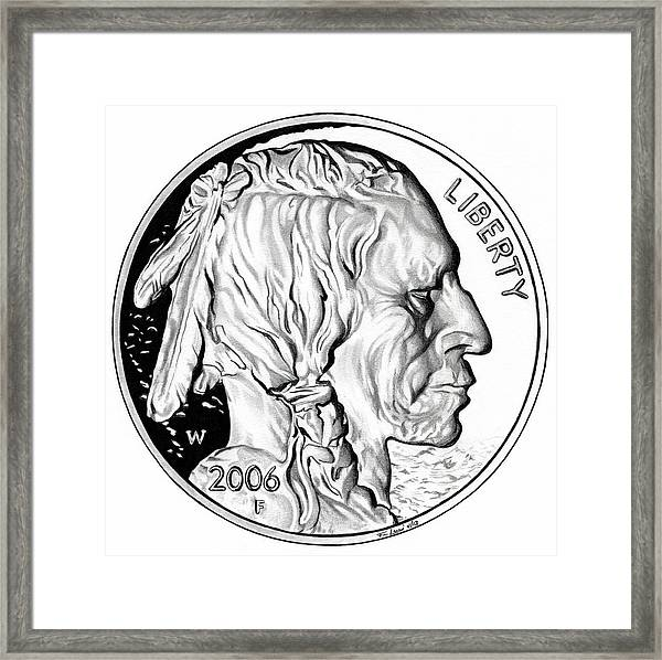 Buffalo Nickel Framed Print