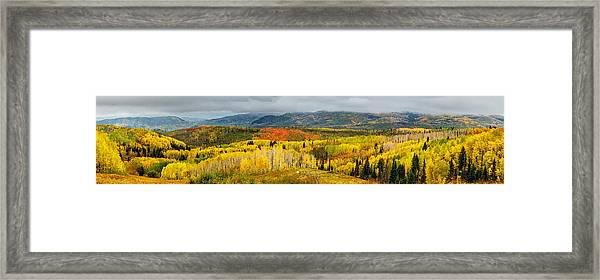 Buffalo Pass Steamboat Springs Co Framed Print