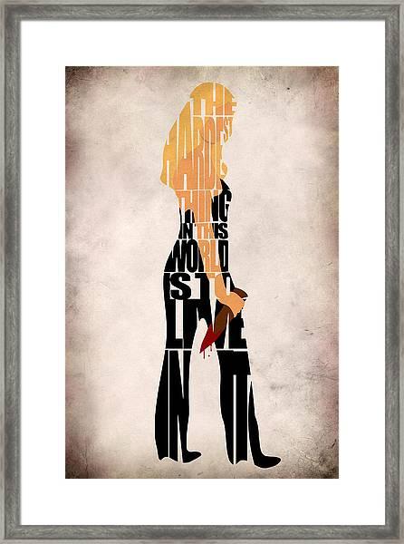 Buffy The Vampire Slayer Framed Print