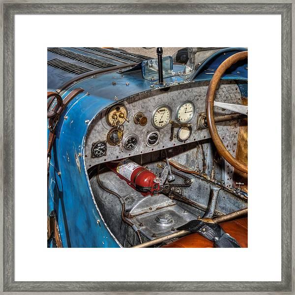 Bugatti Cockpit Framed Print