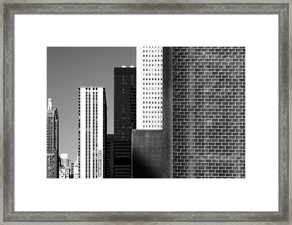 Building Blocks Black White Framed Print