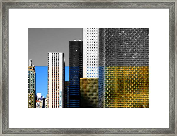 Building Blocks Cityscape Framed Print