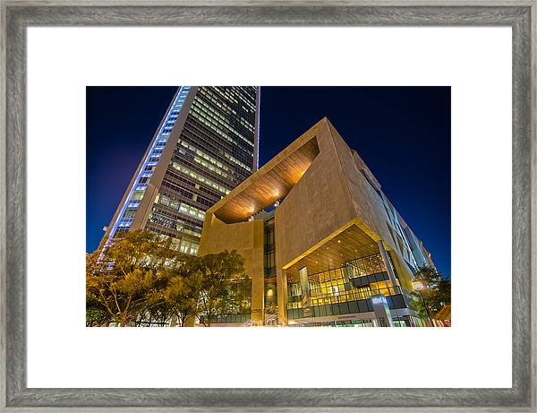 Buildings And Architecture Around Mint Museum In Charlotte North Framed Print