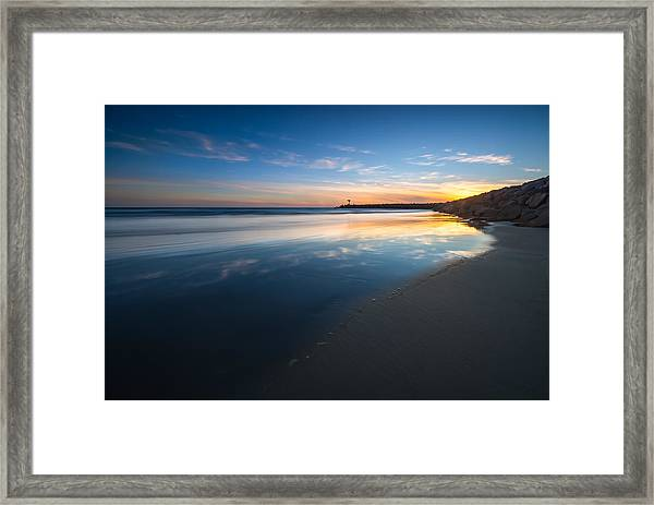 Bule Reflections Framed Print