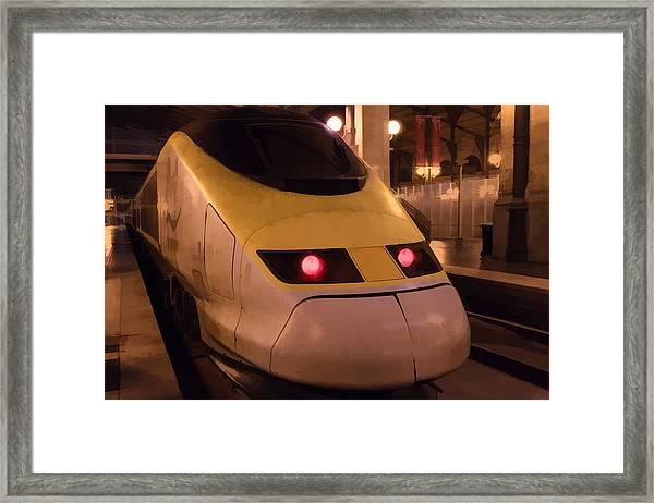 Bullet Train Art Framed Print