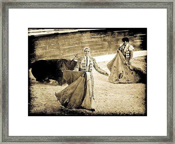 Bullfighting Blond Framed Print