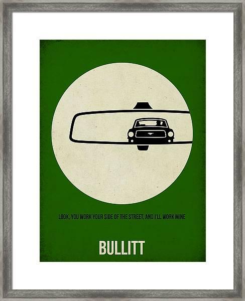 Bullitt Poster Framed Print