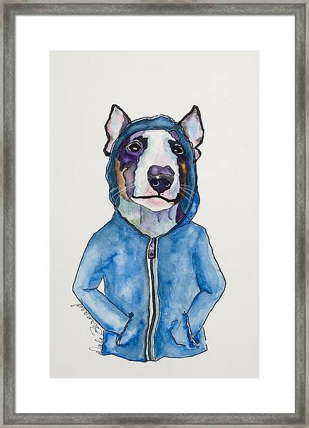 Bully For The Hoodie Framed Print
