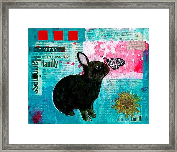 Bun And Butterfly Framed Print