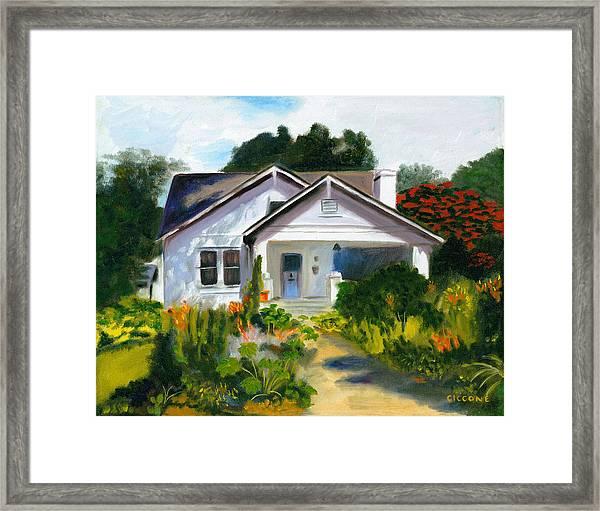 Bungalow In Sunlight Framed Print