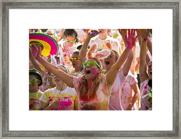 Girl In The Crowd  Framed Print by Debbie Cundy