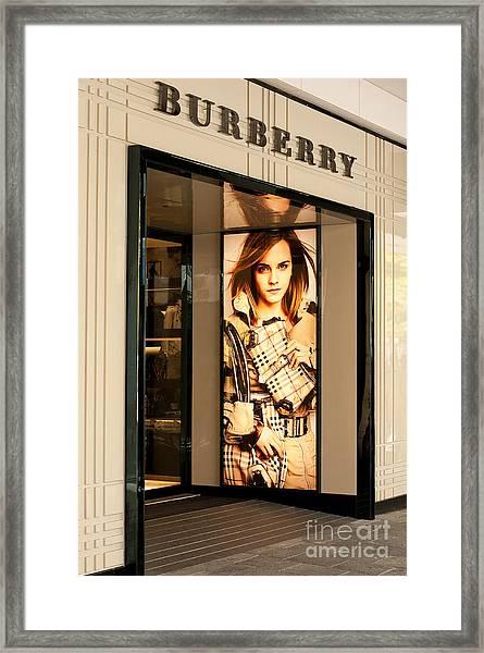 Burberry Emma Watson 01 Framed Print