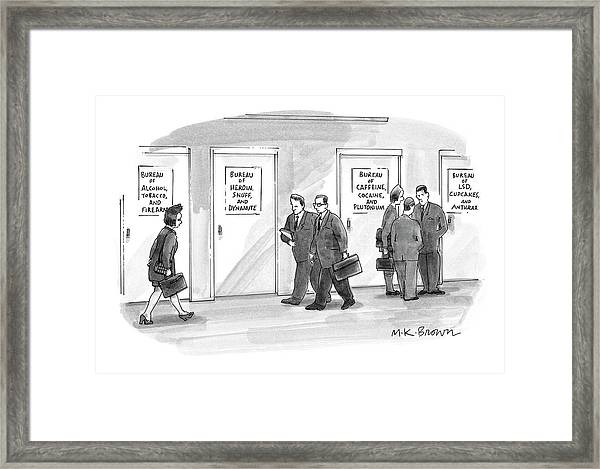 Bureaus Of Dangerous Stuff Etc Framed Print