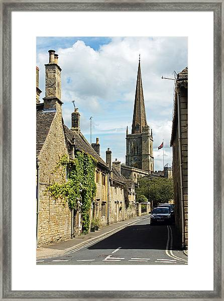 Burford Village Street Framed Print