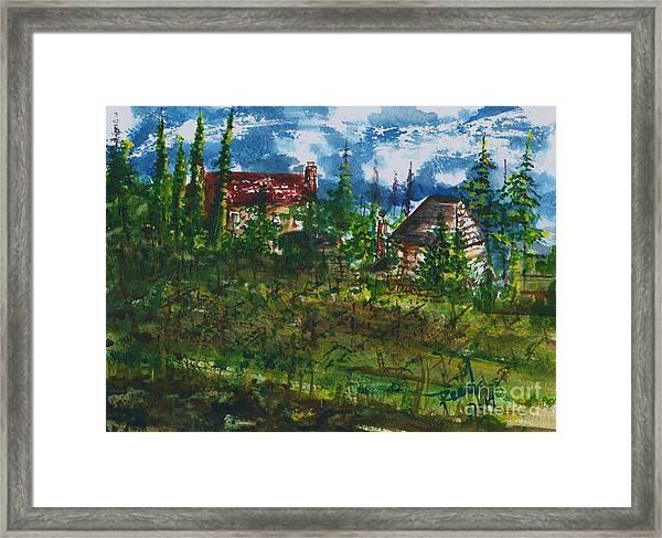 Burgundy In The Morning  Framed Print
