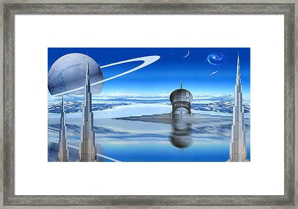 Burj Khalifa Outpost Framed Print