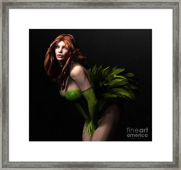Burlesque Framed Print by Sandra Bauser Digital Art
