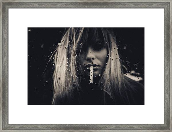 Burn Framed Print by Joan Le Jan
