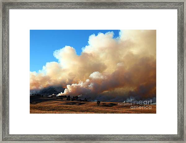 Burning In The Black Hills Framed Print