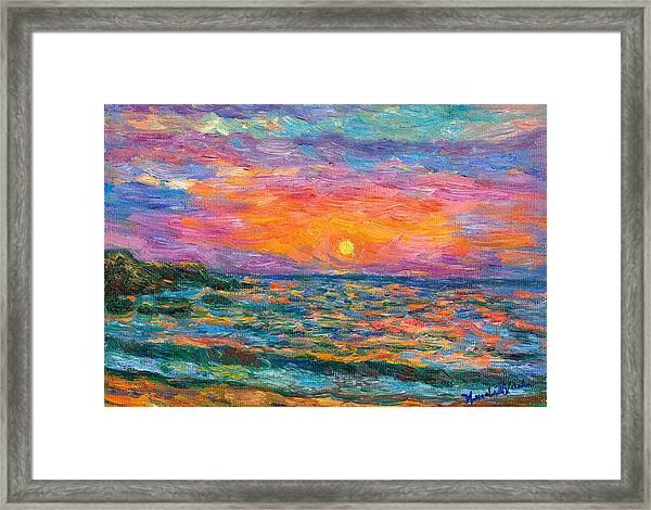 Burning Shore Framed Print