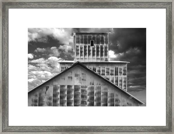 Burns Elevator South Side Bw Framed Print