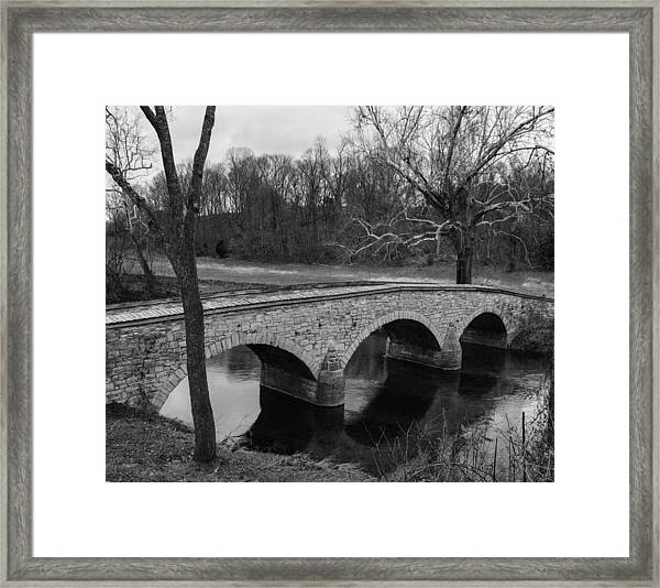 Burnside's Bridge At Antietam Framed Print