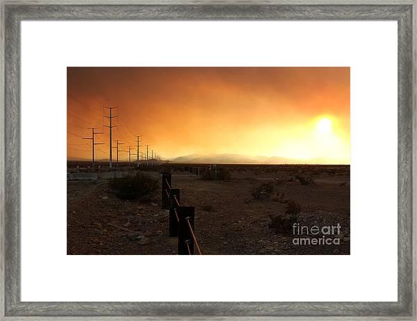Burnt Sky Framed Print