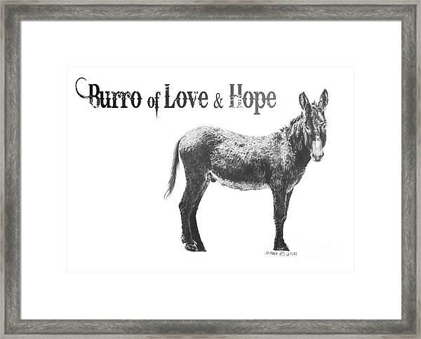 Burro Of Love And Hope Framed Print