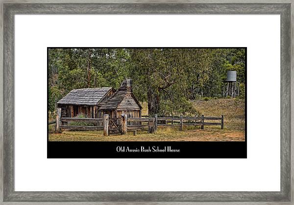 Bush School House Framed Print