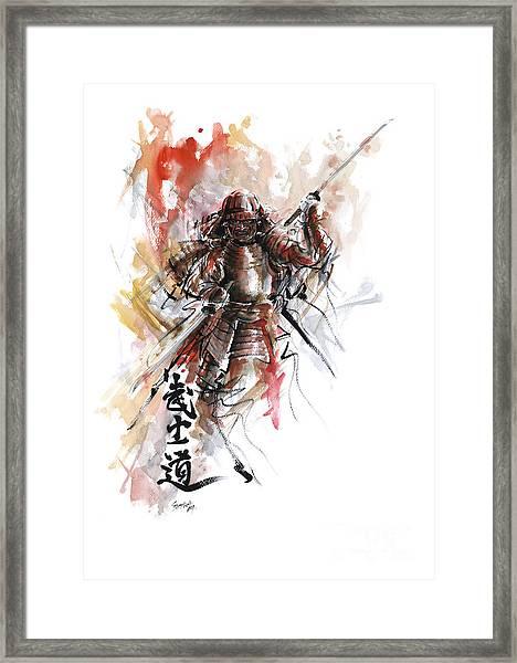 Bushido - Samurai Warrior. Framed Print