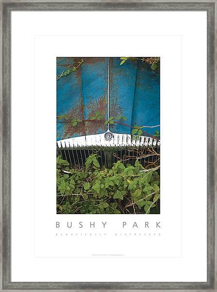 Bushy Park Beautifully Distressed Poster Framed Print