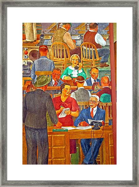 Business Looking Busy Framed Print