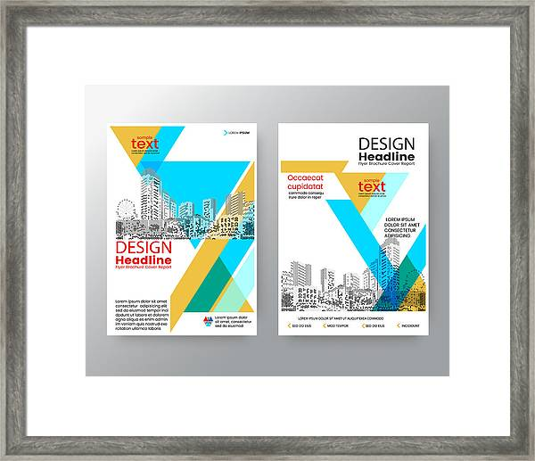 business templates creative design abstract blue yellow diagonal brochure annual report cover flyer poster