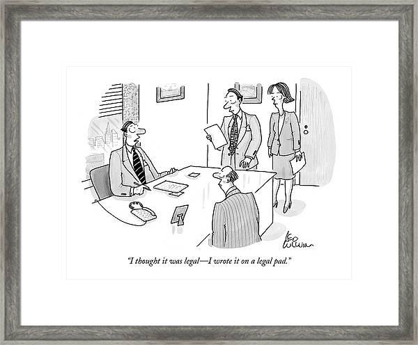 Businessman To Associates Framed Print