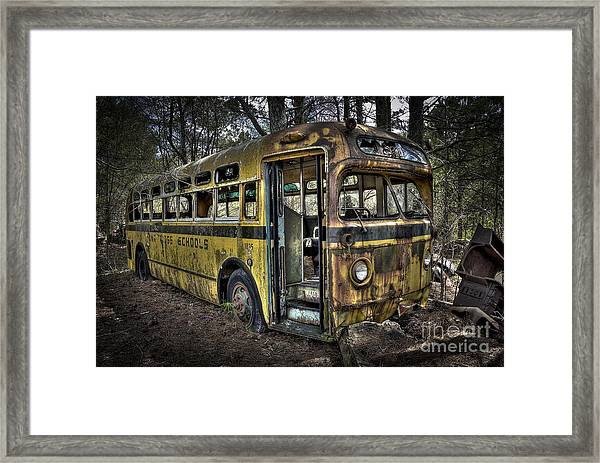 Bus'ted Framed Print