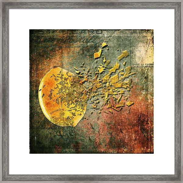 Busted Lemon Framed Print