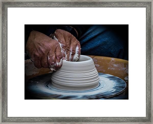 Busy Hands Framed Print