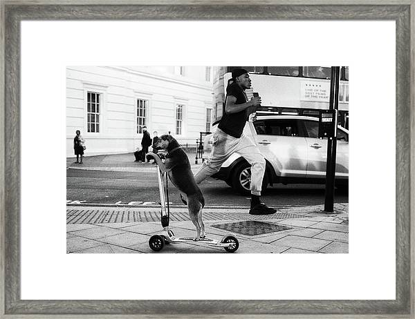 Busy London Framed Print by Michael Komm
