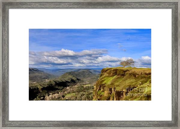 Butte Creek Canyon Overlook Framed Print