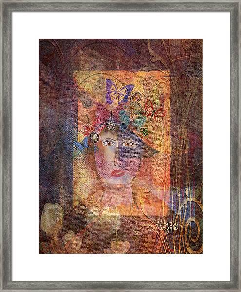 Butterflies In Her Hair Framed Print