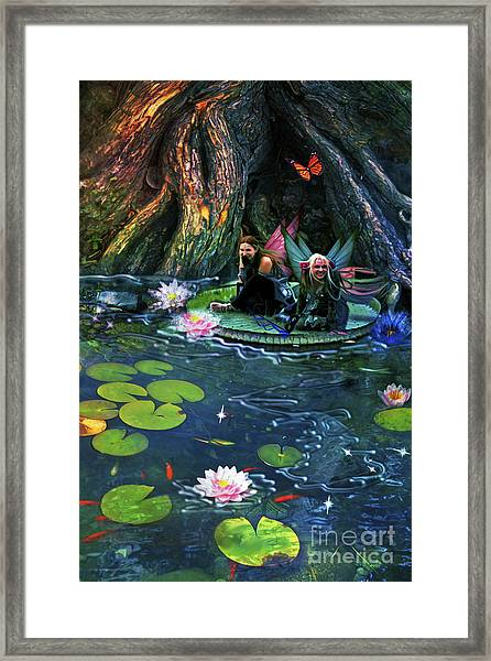 Butterfly Ball Pond Framed Print