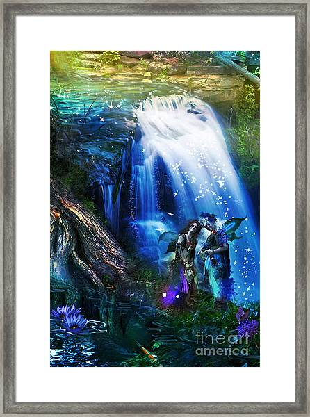 Butterfly Ball Waterfall Framed Print