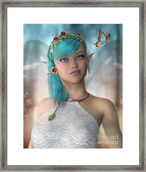Butterfly Fairy Framed Print