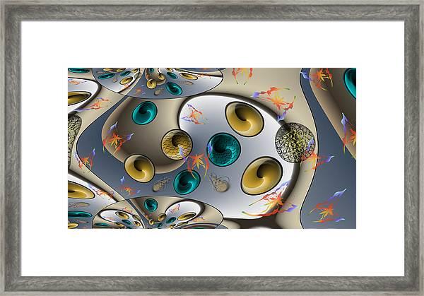 Butterfly Fractal Palette Framed Print