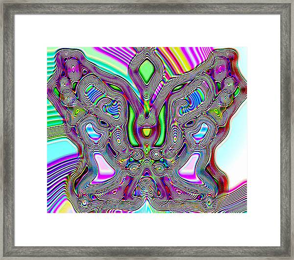 Butterfly Groove Framed Print