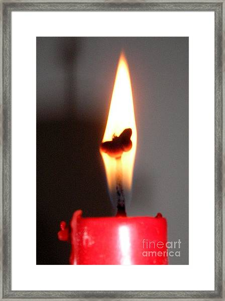 Butterfly Flame Framed Print