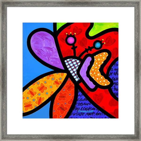 Butterfly Orchid Framed Print